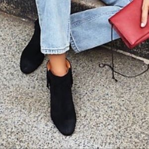 Black Suede Fringe Boots by Matiko